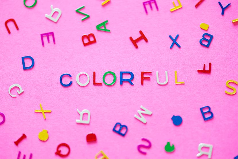 Lettre colorées