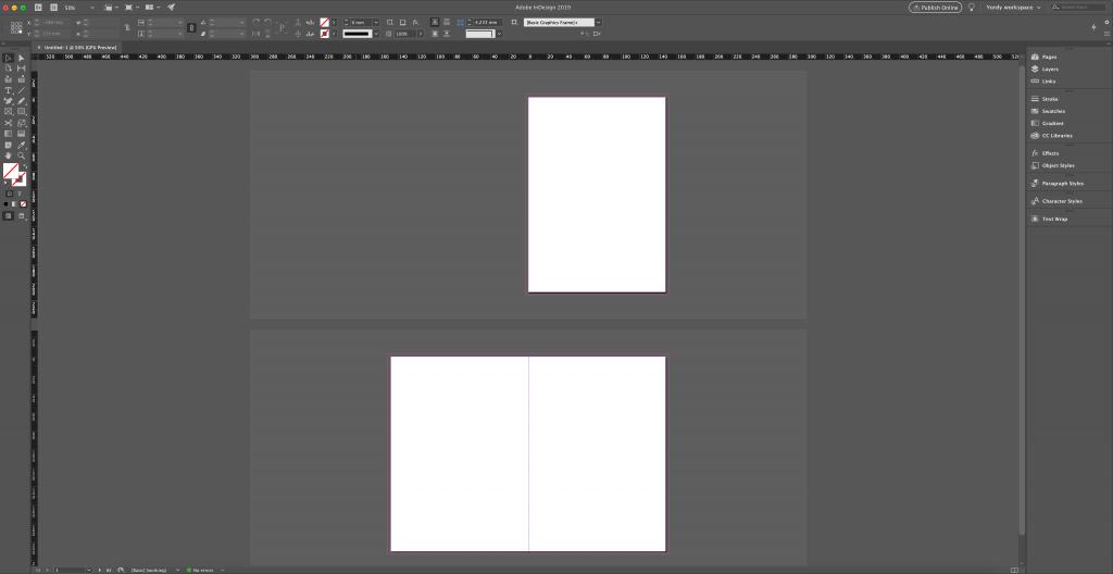 3 pages séparés pour la création de la couverture