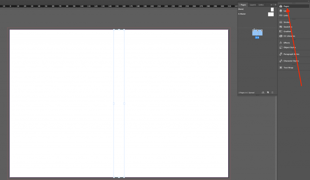 Arranger les pages dans InDesign