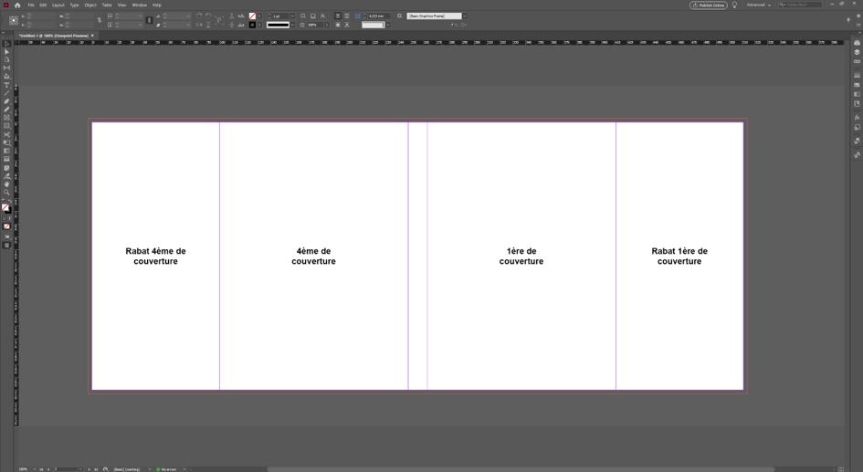 L'ordre des pages pour une couverture avec rabats