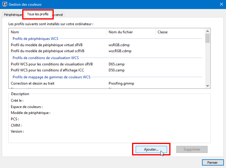 Windows_Gestion des couleurs_tous les profils