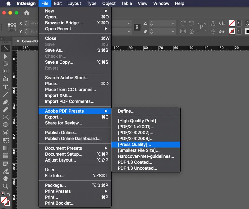Exporter en PDF depuis InDesign