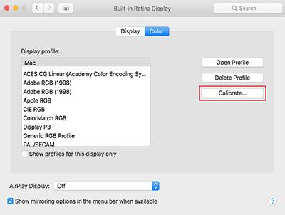 Beeldscherm kalibreren met Apple (stap 2)