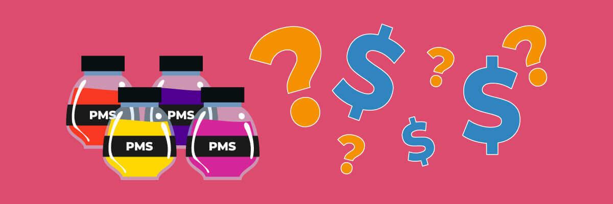 Kosten drukken in PMS-kleuren
