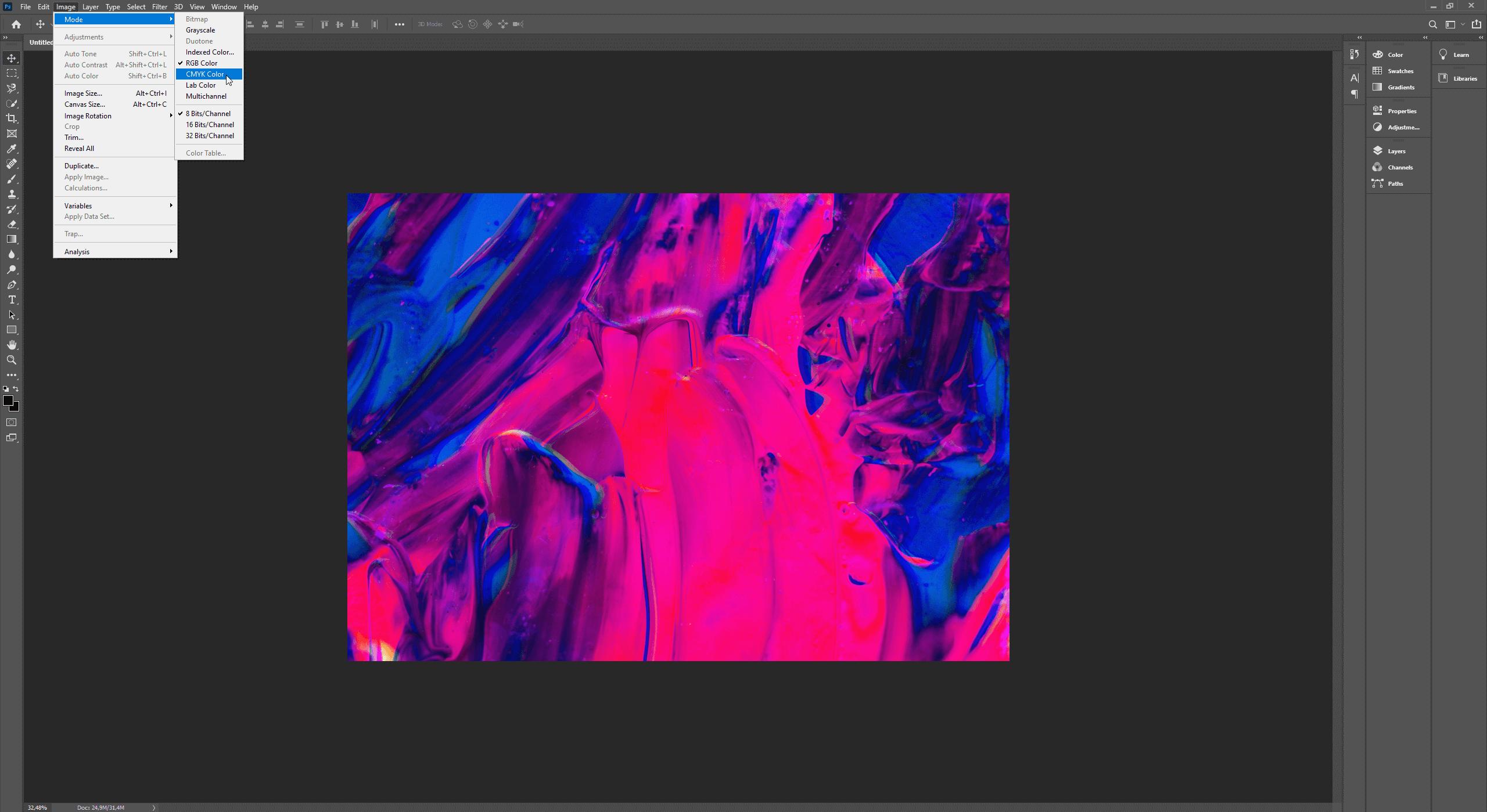 Een foto in CMYK modus zetten in Photoshop