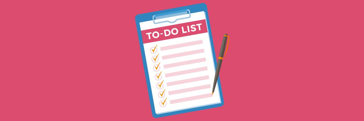 Door het maken van een to-do lijst kun je je tijd beter indelen